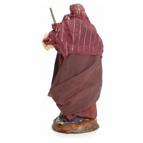 Mujer barriendo 18 cm pesebre Napolitano s3