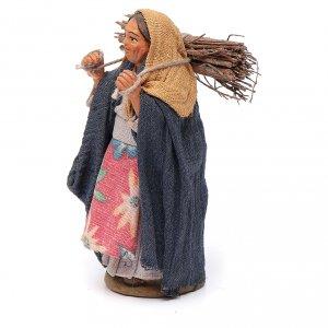 Belén napolitano: Mujer con leña 10 cm terracota