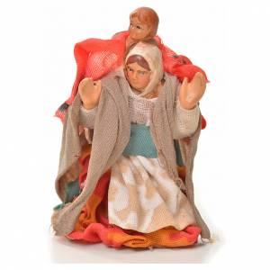 Mujer con niño en la espalda 6cm pesebre napolitano s1