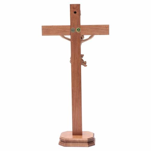 Multi-patinated table crucifix, Corpus model in multi-patinated s4