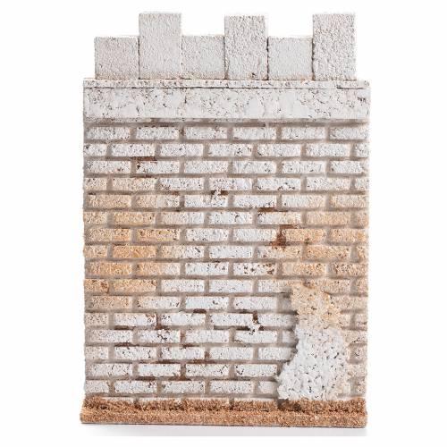 Mur latéral château 19x13cm liège s1