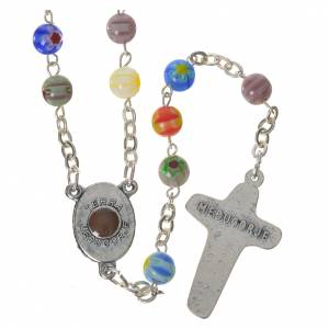 Rosaries and rosary holders: Murrina Medjugorje rosary in glass