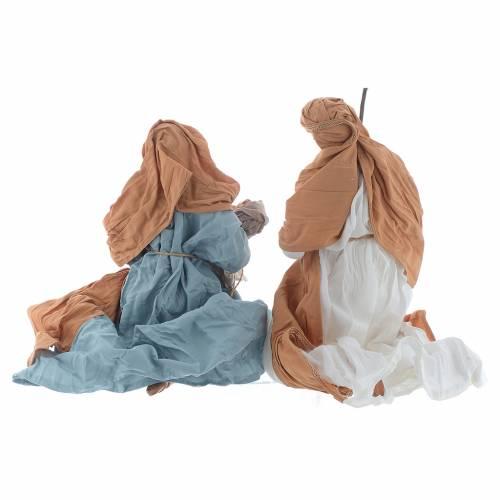 Natività in ginocchio 23 cm  Marrone azzurro s2