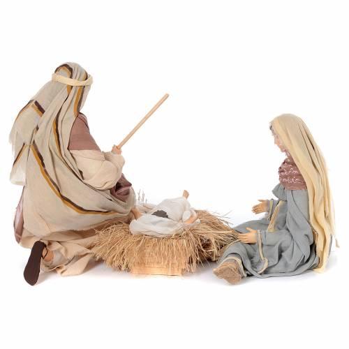 Natività in ginocchio 60 cm resina e stile country s4