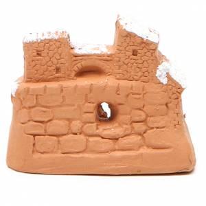 Natività miniatura terracotta neve 6x7x4 cm s4