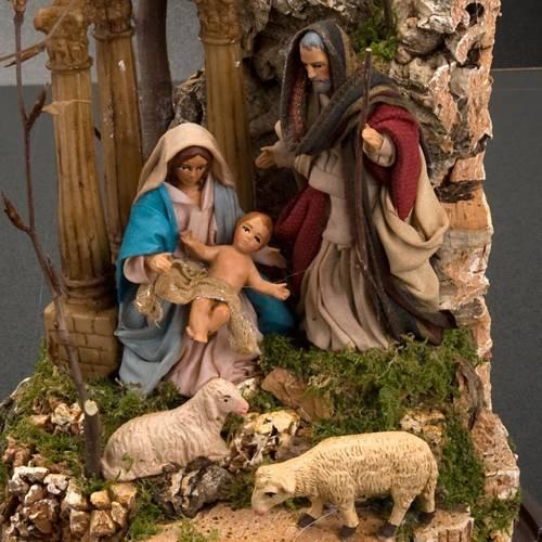 Nativité dans cloche en verre avec paysage, 26 cm 2