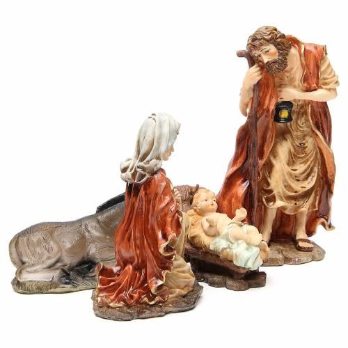 Nativité en résine 32 cm soft color 5 santons s4
