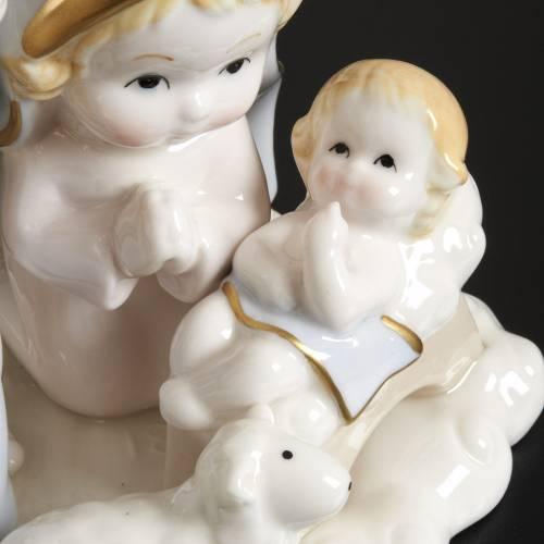 Nativité stylisée céramique 14 cm s3