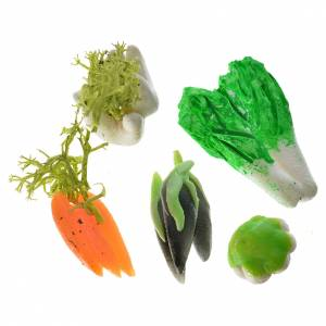 Miniature food: Nativity accessory, assorted vegetable, 3pcs in wax