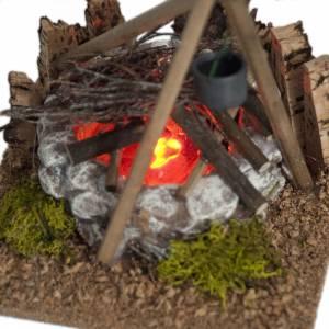 Nativity accessory, bonfire with pot s3