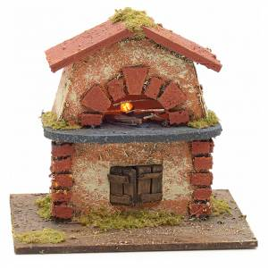 Nativity accessory, electric wood-fired oven 12x9x12cm s1