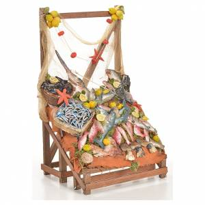 Nativity accessory, fishmonger's stall 20x22x40cm s4