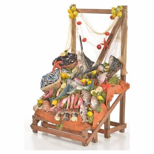 Nativity accessory, fishmonger's stall 20x22x40cm s2