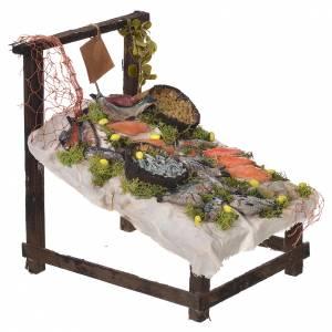 Nativity accessory, fishmonger stall in wax 22x21.5x17cm s2