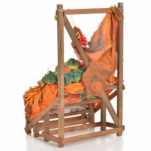 Nativity accessory, greengrocer's stall 20x22x44cm s4