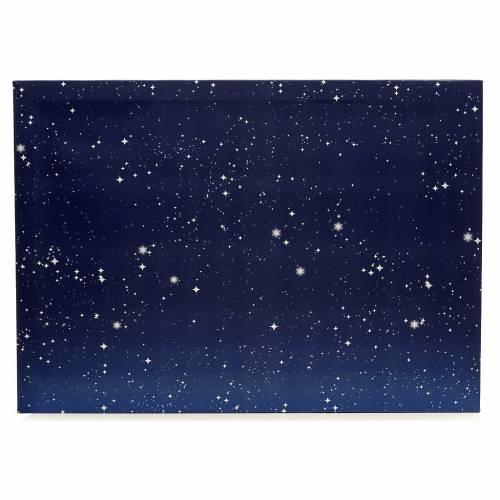 Nativity accessory, illuminated sky 50x70cm s1