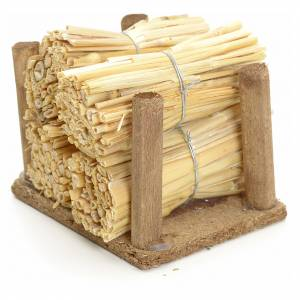 Nativity accessory, wood pile with straw s2