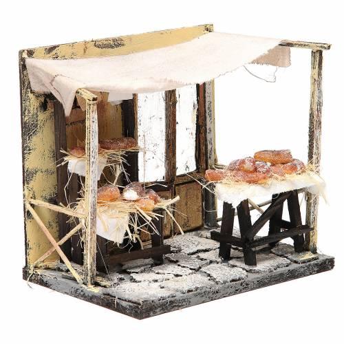 Nativity baker stall in wax, 18x20x14cm s3