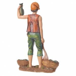 Nativity figurine, fishmonger, 30cm resin s6
