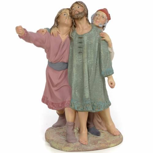 Nativity figurine, group of 3 shepherds, 30cm (fine decoration) s1