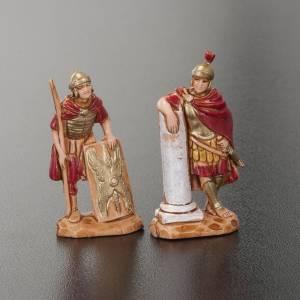 Nativity Scene by Moranduzzo: Nativity figurine, King Herod with Roman soldiers, 4 pieces 3.5cm