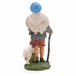 Nativity figurine, shepherd with sheep and stick 10cm s2