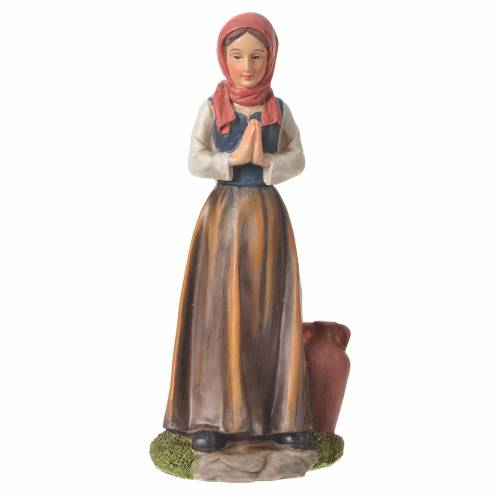 Nativity figurine, shepherdess with joined hands, 30cm resin s4
