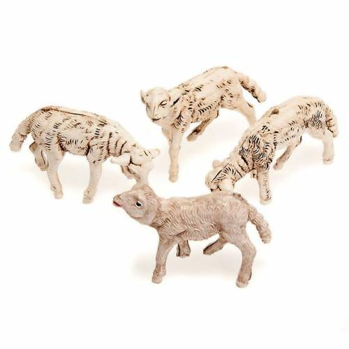 Nativity scene accessories, 12cm sheep, set of 4pcs 1