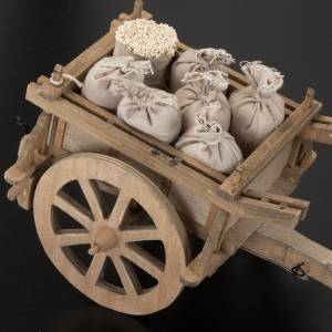 Nativity scene accessory, wooden cart, 12x15 cm s3