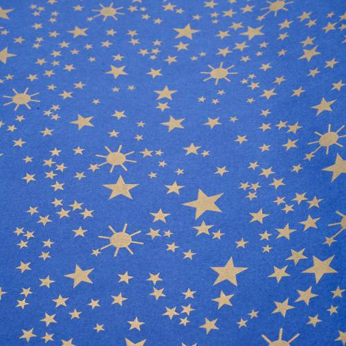 Nativity scene backdrop, starry sky on paper roll 100cm x 5m s1
