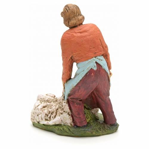 Nativity scene figurine, shearer with sheep 13cm s2