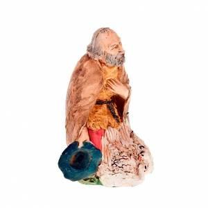 Nativity scene figurine, shepherd with chickens 13cm s2