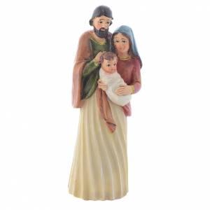 Nativity sets: Nativity scene in multicoloured resin measuring 15.5cm