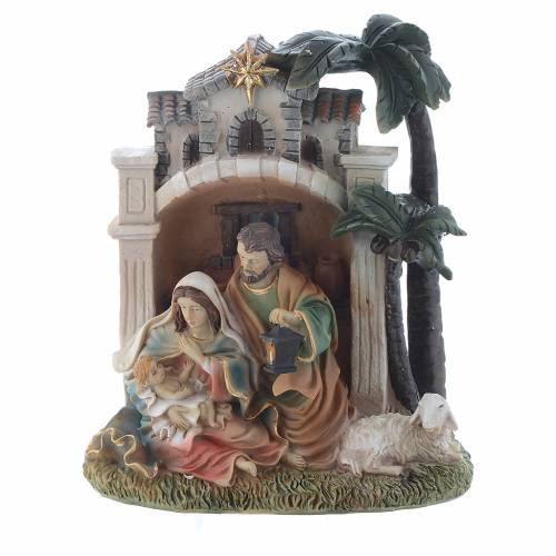 Nativity scene in resin measuring 16.5cm s1