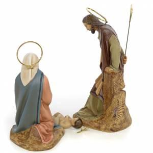 Nativity scene in wood pulp 20cm elegant decoration s3