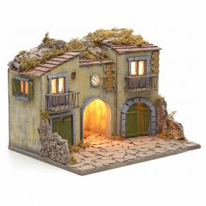 Nativity scene set small village with manger s2