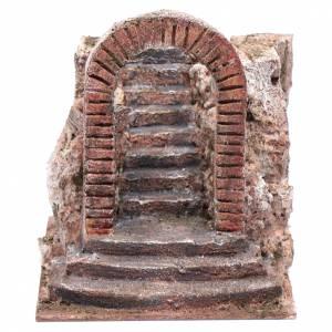 Nativity scene stairway with arch 15x15x20 cm s1