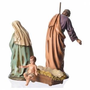 Nativity scene with 3 figurines, 16cm Moranduzzo s2