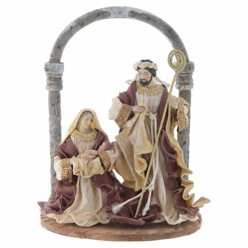 Nativity scene with arch in Cream Brown resin measuring 41cm s1