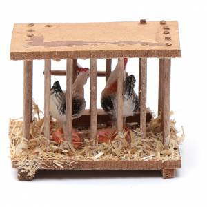 Miniature tools: Nativity scene wooden cage 5x5x3 cm