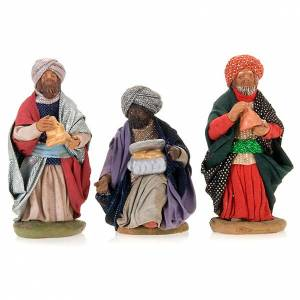 Nativity ser Three wise Kings 10 cm clay figurines s1