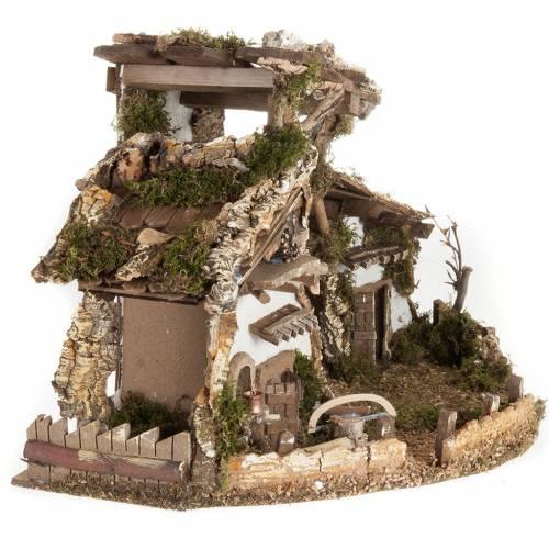 Nativity set accessory, cabin-style Hut 60x30x40 cm s6