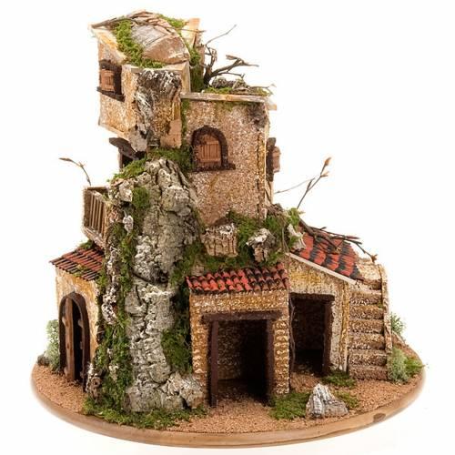 Nativity set accessory, cave with hamlet 30x42x30 cm s8