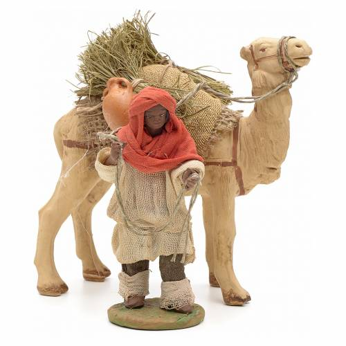 Nativity set accessory Dark cameleer with camel 10 cm figurines s1