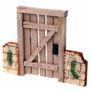 Nativity set accessory, gate with fence s1