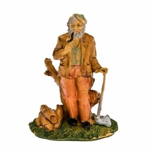 Nativity set accessory, Lumberman with hatchet figurine s1