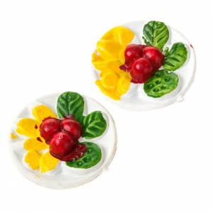 Miniature food: Nativity set accessory, plate with food