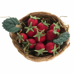 Nativity set accessory, strawberry basket s1