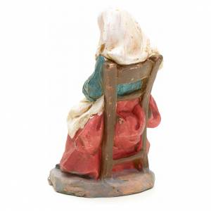 Nativity set accessory, Woman sitting with pan figurine s2