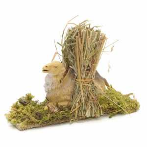 Animals for Nativity Scene: Nativity Scene figurine, camel with hay 10cm
